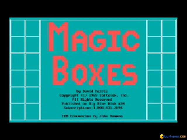 Magic Boxes - title cover