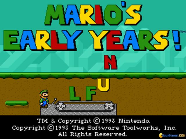 Mario's Early Years: Fun With Letters - title cover