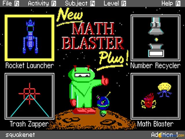 Math Blaster Plus! - title cover