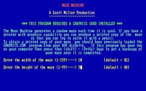Maze Machine - title cover