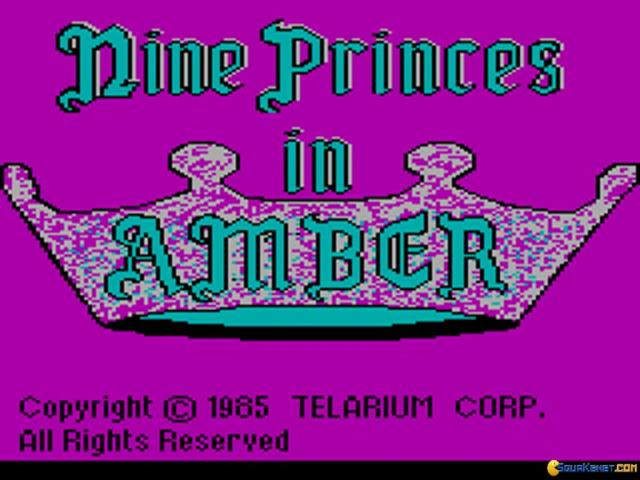 Nine Princes in Amber - title cover