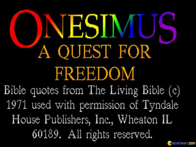 Onesimus: A Quest for Freedom - title cover