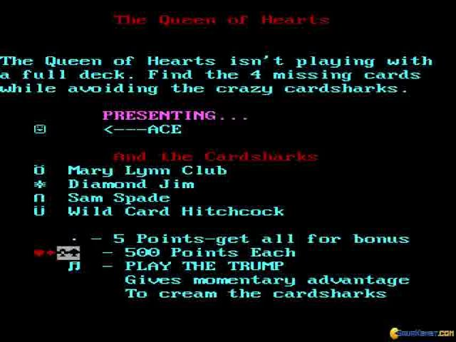 The Queen of Hearts Maze Game - game cover