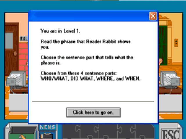 Reader Rabbit 3 - game cover