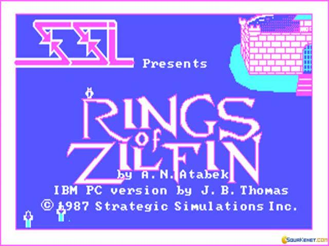 Rings of Zilfin - title cover