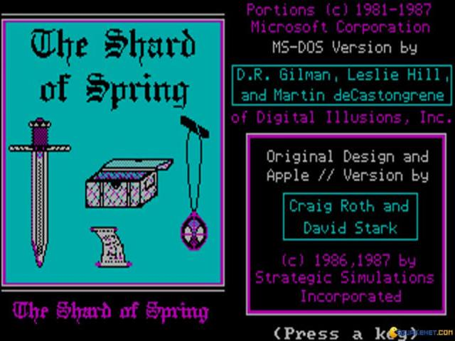 Shard of Spring - game cover