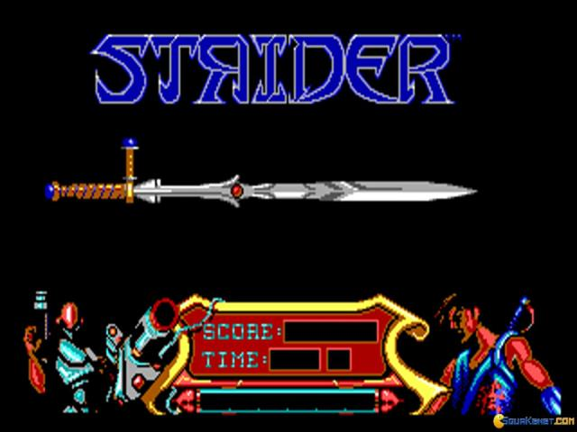Strider - title cover