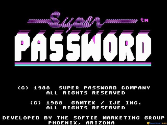 Super Password - title cover