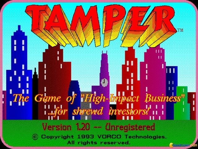 Tamper - title cover