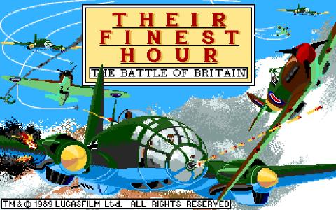 Their Finest Hour: The Battle of Britain - game cover