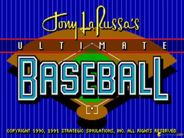 Tony La Russa's Ultimate Baseball - title cover