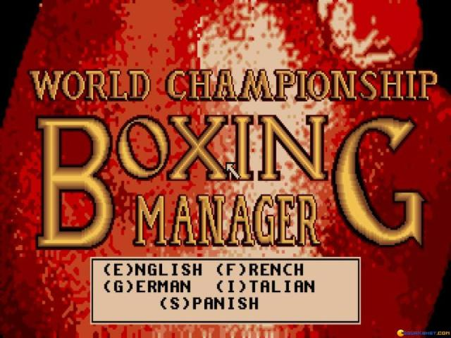 World Championship Boxing Manager - game cover