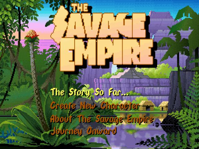 Worlds of Ultima: the Savage Empire - title cover