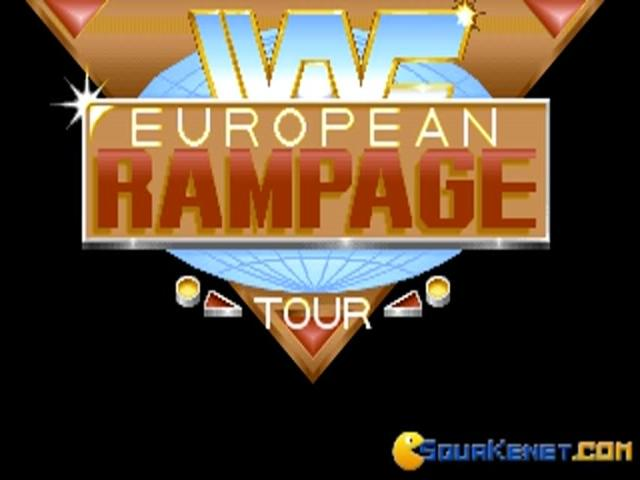 WWF: European Rampage Tour - title cover