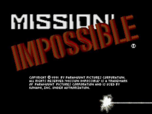 Mission: Impossible - game cover