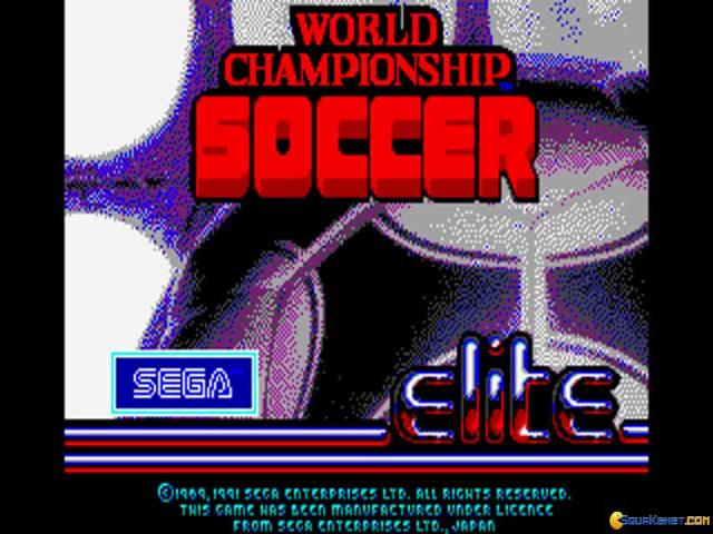 World Championship Soccer - title cover