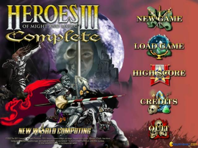 Heroes of Might and Magic 3 - title cover