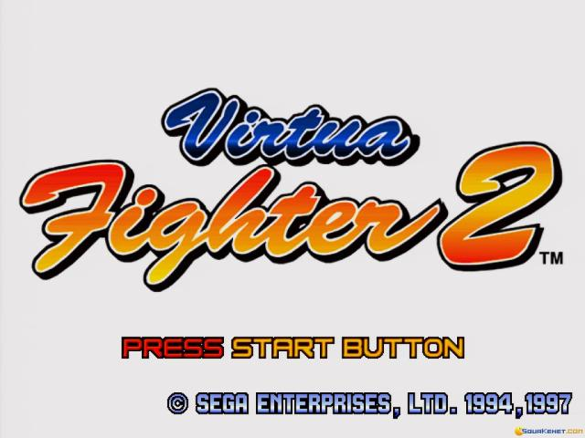 Virtua Fighter 2 - title cover