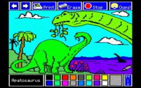 Electric Crayon: Dinos are Forever - game cover