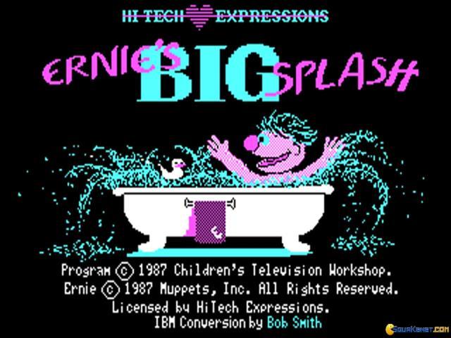 Ernie's Big Splash - title cover