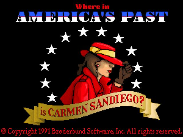 Where in America's past is Carmen Sandiego? - title cover