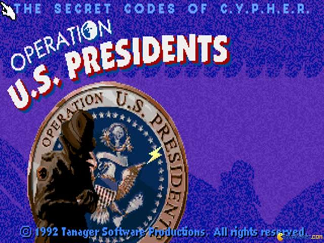 C.Y.P.H.E.R. Operation US Presidents - title cover