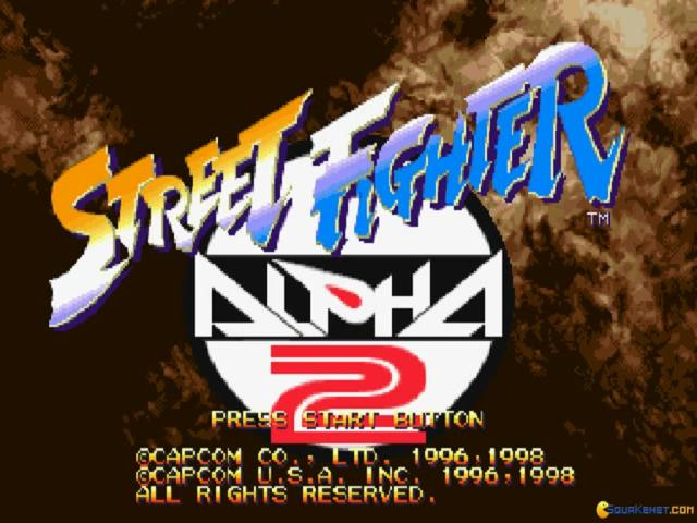 Street Fighter Alpha 2 - title cover
