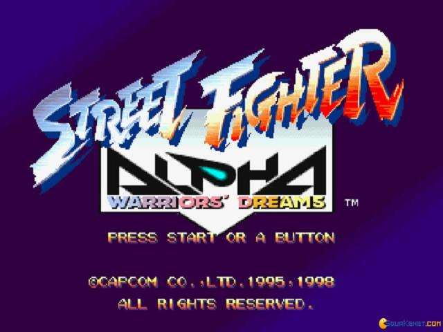 Street Fighter Alpha - game cover