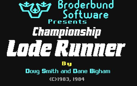 Championship Lode Runner - game cover