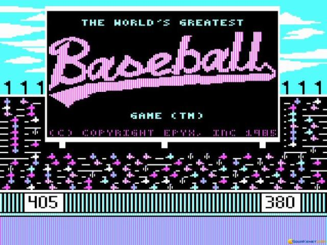 The World's Greatest Baseball Game - title cover
