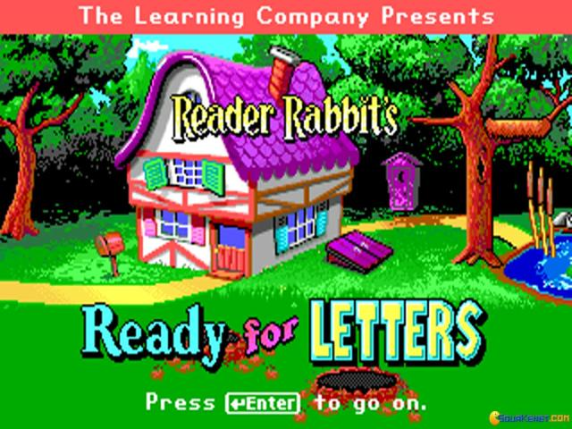 Reader Rabbit's Ready for Letters - title cover