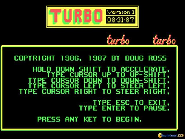 Turbo Car - title cover