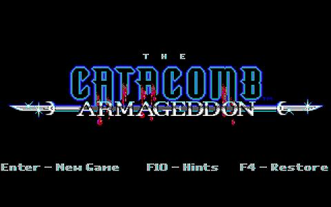 Catacomb Armageddon - title cover