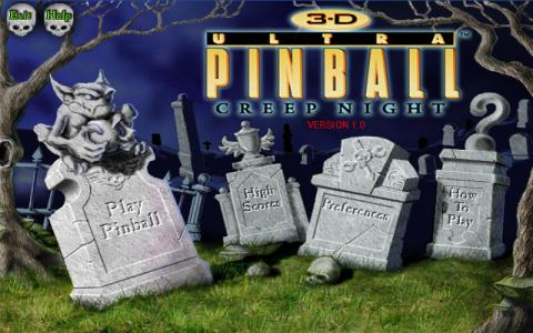 3-D Ultra Pinball: Creep Night - title cover