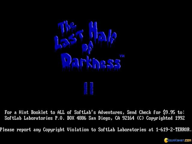 Last Half of Darkness II - title cover