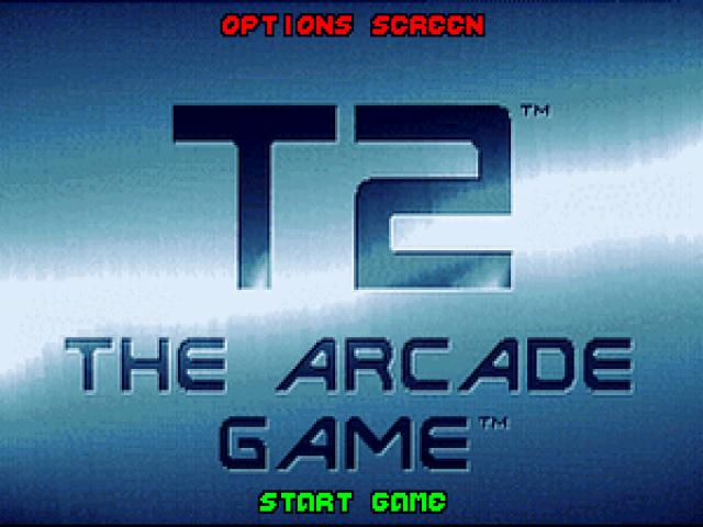 Terminator 2 - The Arcade Game - title cover