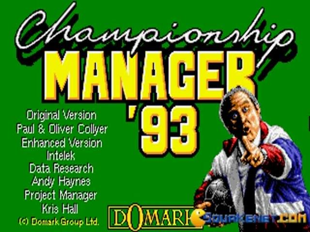 Championship Manager 1993 - title cover