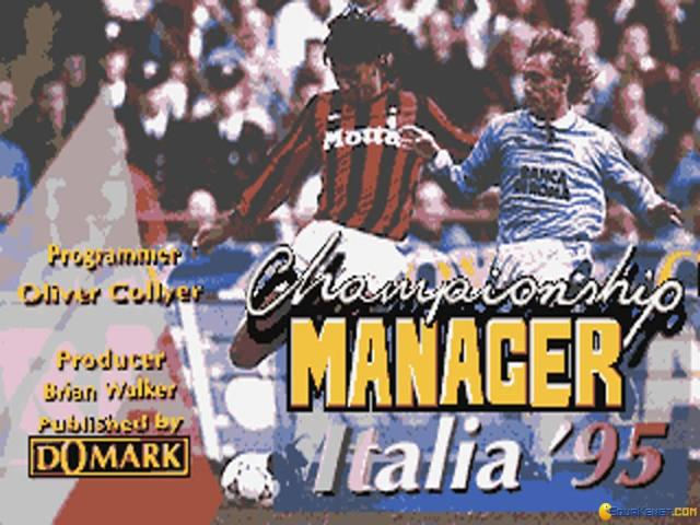 Championship Manager 1995 - title cover