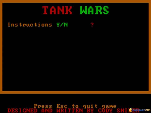 Tank Wars - title cover