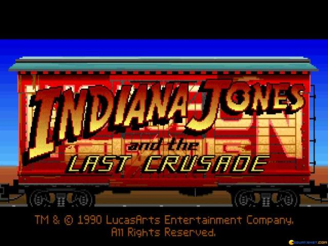 Indiana Jones and the Last Crusade - game cover