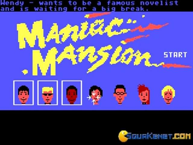 Maniac Mansion - title cover