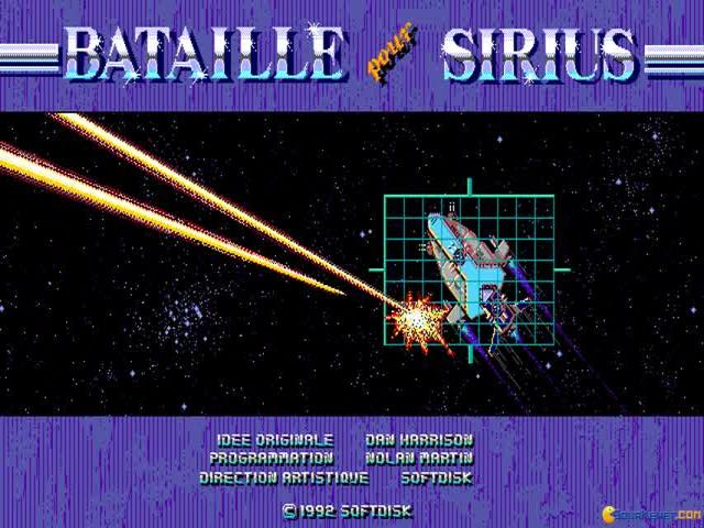 Bataille pour Sirius - title cover