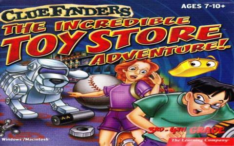 ClueFinders: The Incredible Toy Store Adventure - title cover