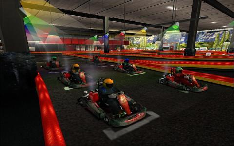 Coronel Indoor Kartracing - game cover