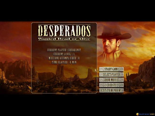 Desperados: Wanted Dead or Alive - title cover