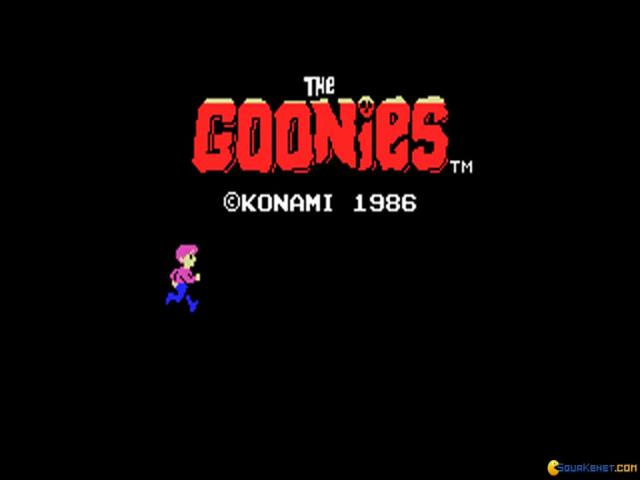 Goonies - game cover