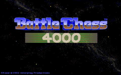 Battle Chess 4000 - title cover