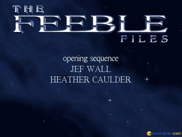 The Feeble Files - title cover