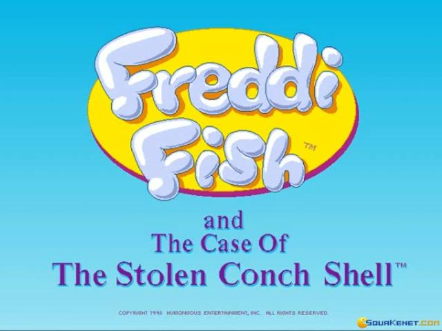 Freddi Fish 3: The Case of the Stolen Conch Shell - title cover