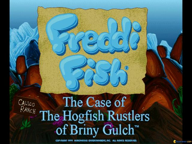 Freddi Fish 4: The Case of the Hogfish Rustlers of Briny Gulch - title cover